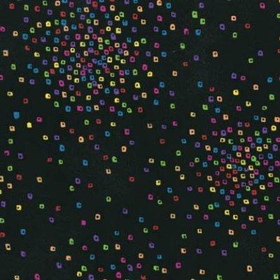 Clothworks Confetti Black W/multi