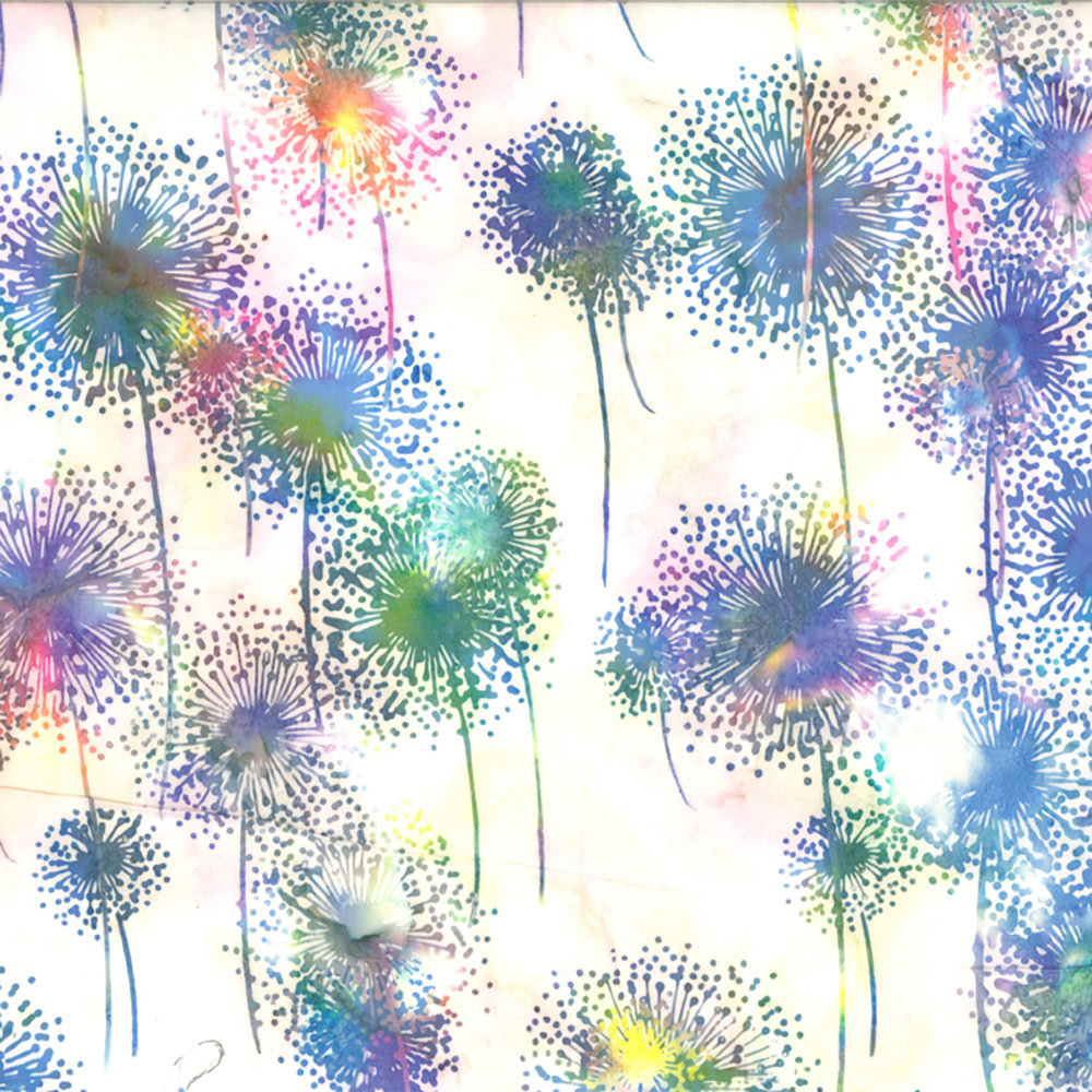 Hoffman Bali Batiks Dandelion Prism