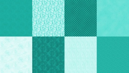 Hoffman Details Spectrum Print Turquoise