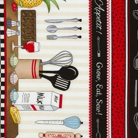 Taste Row By Row Border Print