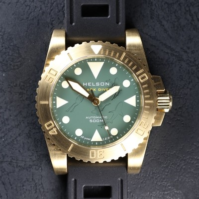 Sharkdiver 40 Brass Green LE
