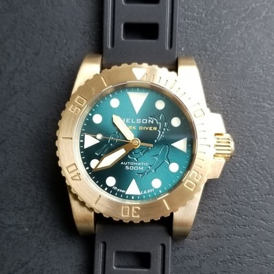 Sharkdiver 40 Brass Sunray Teal LE