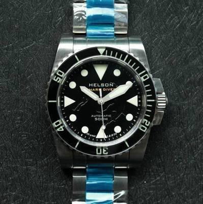 Shark Diver 40 SS Black LE Dial Sapphire Bezel