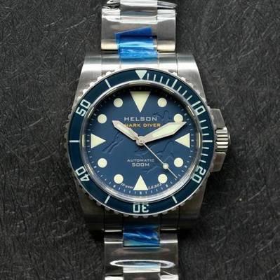 Shark Diver 40 SS Blue LE Dial Sapphire Bezel