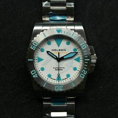 Shark Diver 40 SS White LE Dial Steel Bezel