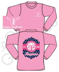 Pink Long Sleeve - Adult XL