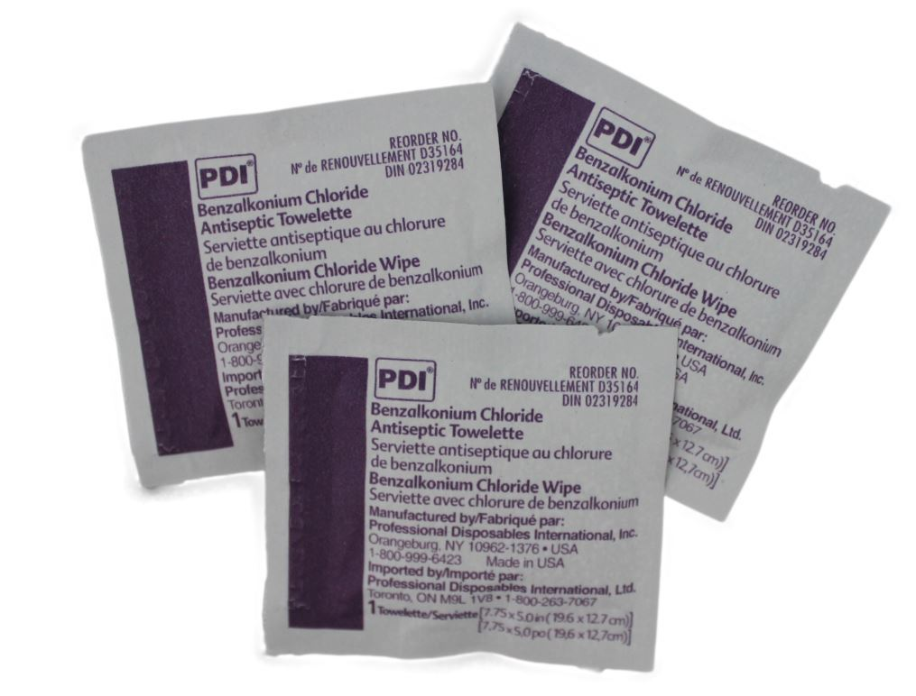 Wound cleaning BZK towelettes - pkg of 100 CA1
