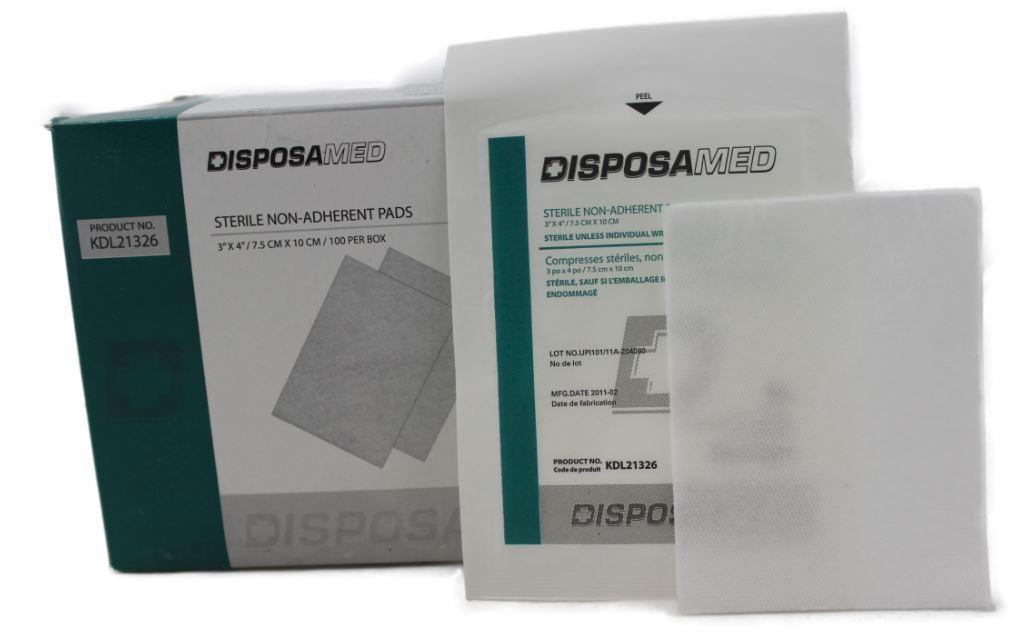 Sterile pad non-adherent 7.5 cm x 10 cm - ea (Burn)