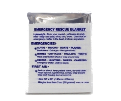 Blanket - emergency rescue (foil)  54