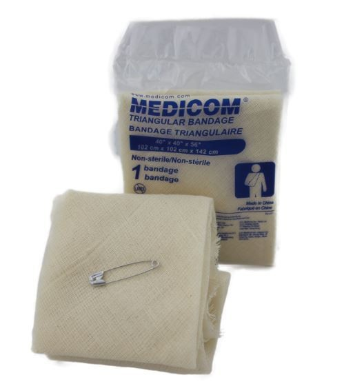Triangular bandages with pins - ea