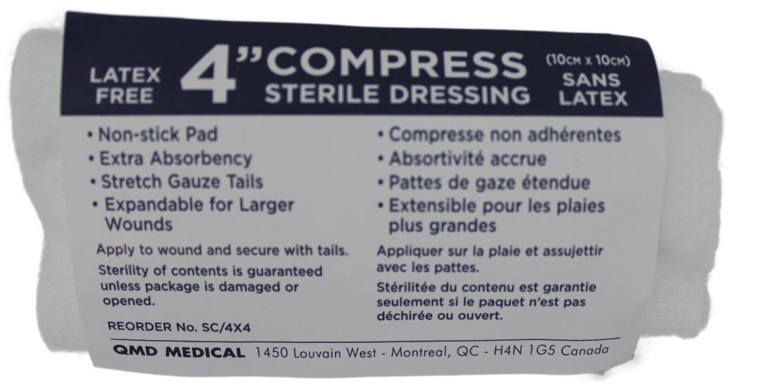 Sterile pressure dressings with ties 4