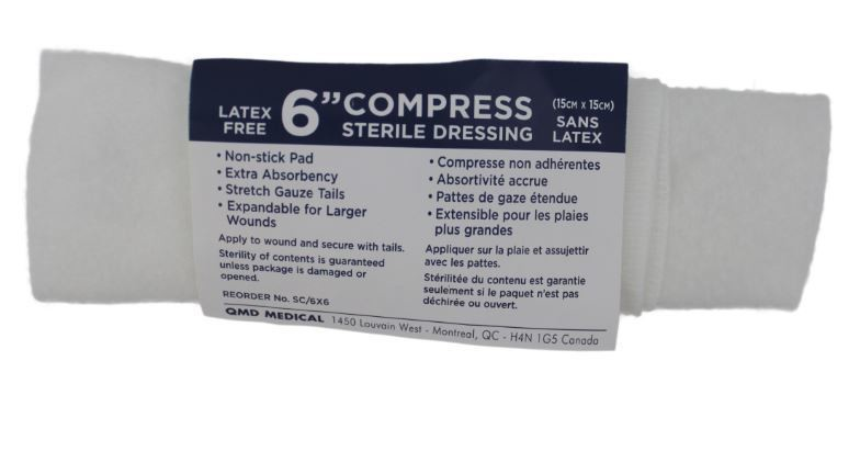 Sterile pressure dressings with ties 6