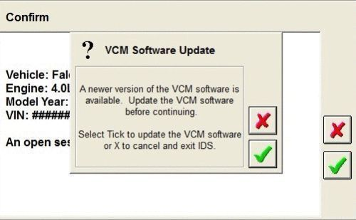 Ford IDS VCM 2 VCM 1 VCM II IDS One Year OEM Software License F0104