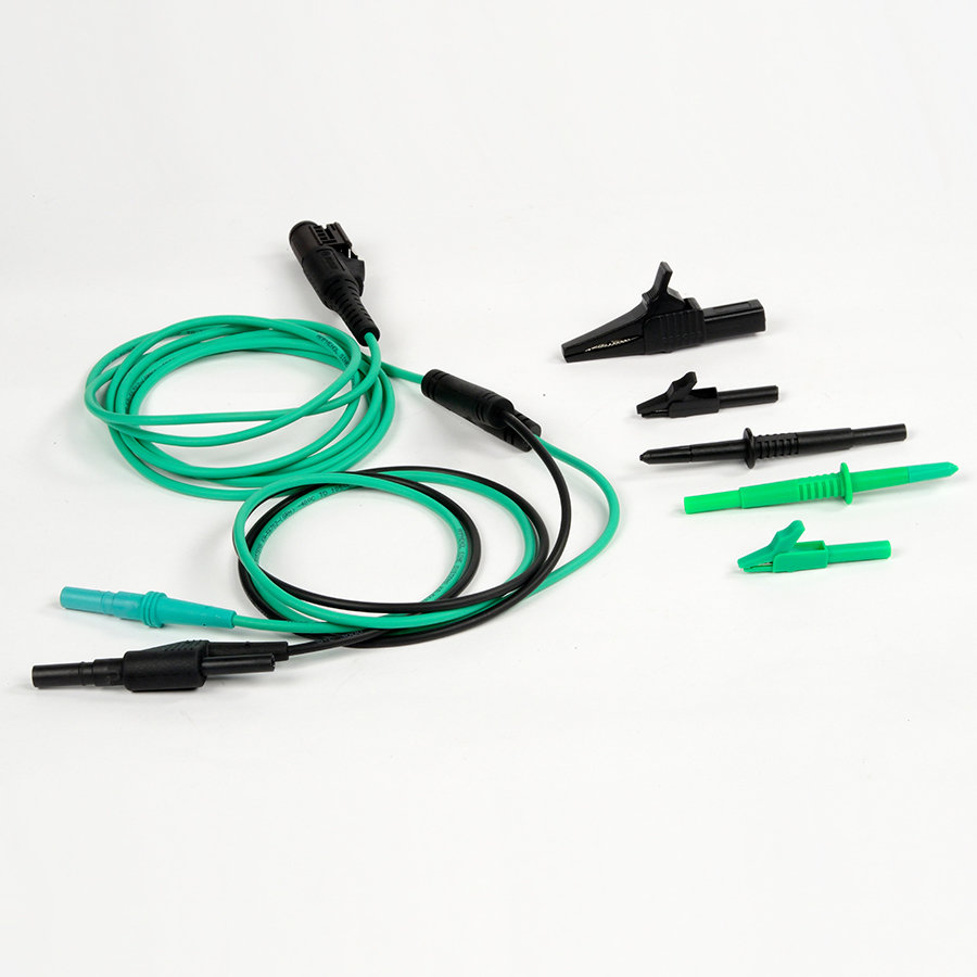 VCMM Green Test Probe Lead, Black Probe, and 3 Alligator Clips F0113