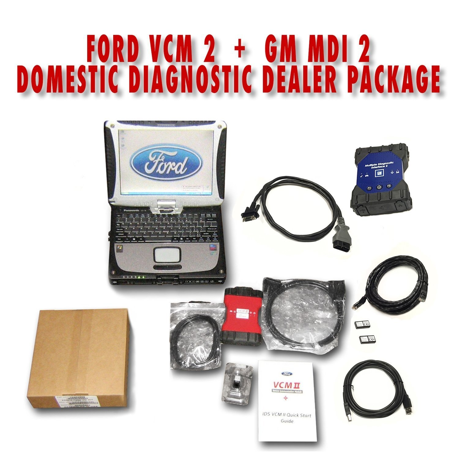 Ford IDS VCM 2 + GM MDI 2 Toughbook Diagnostic Package VCM2GMMD2