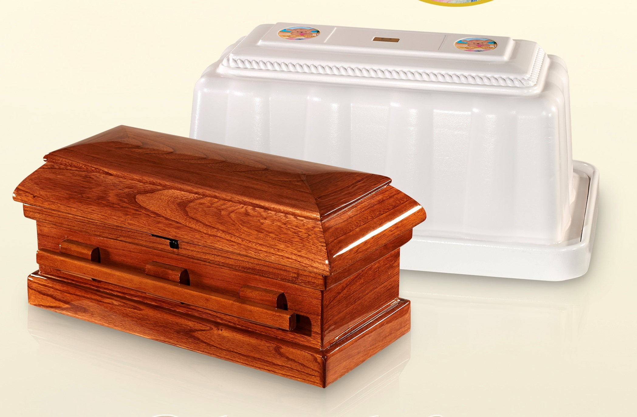Wood Casket and Vault 3 Piece Combo (20 inch interior length)C-20-3combo 636225540108