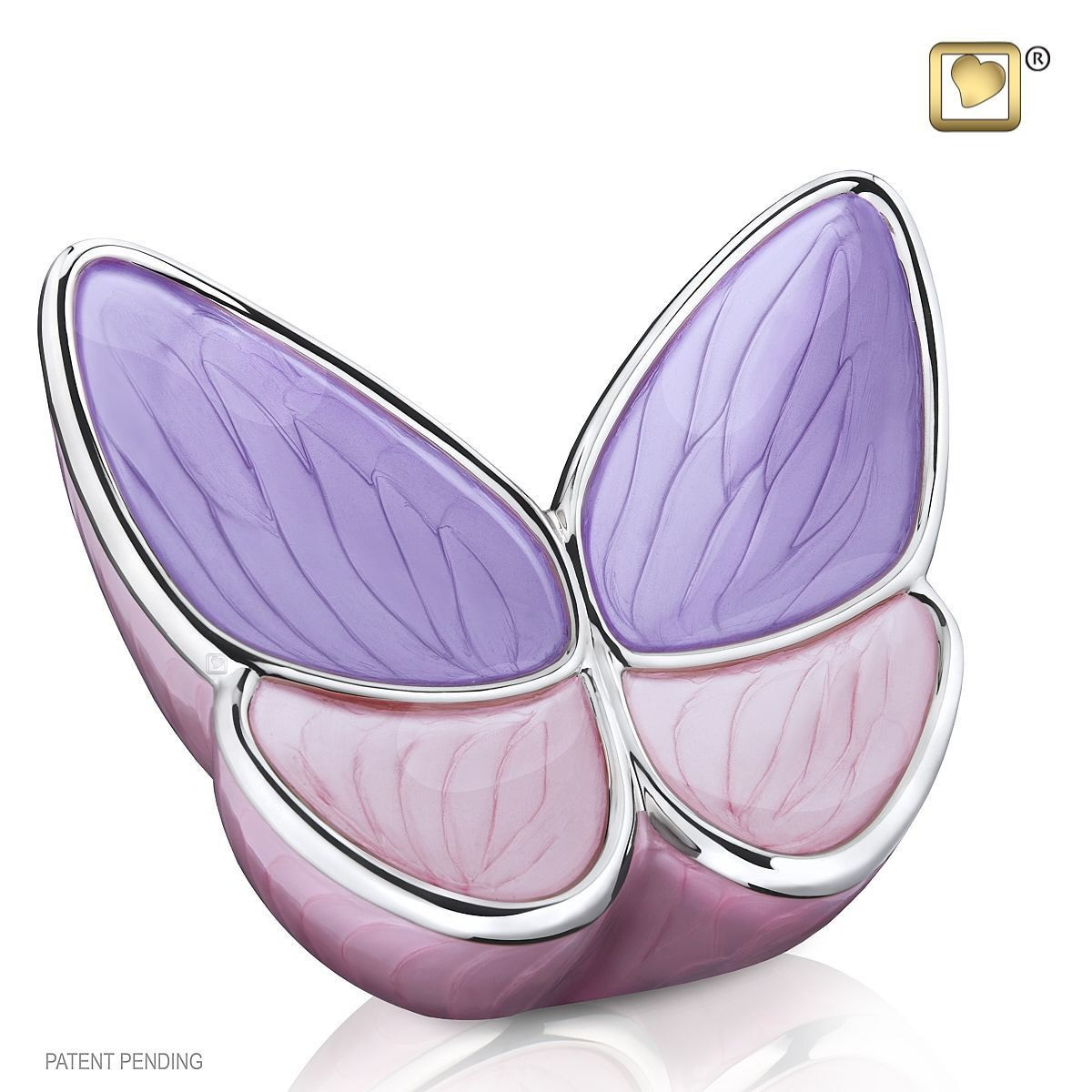 Butterfly Baby Urn in Purple and Pink