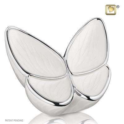Butterfly Baby Urn in white