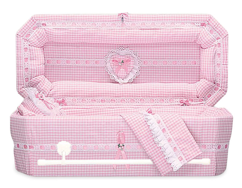 Gingham Cloth Covered Baby Casket (21 -24 Inch Interior)     C-21-24-GH 737787000083