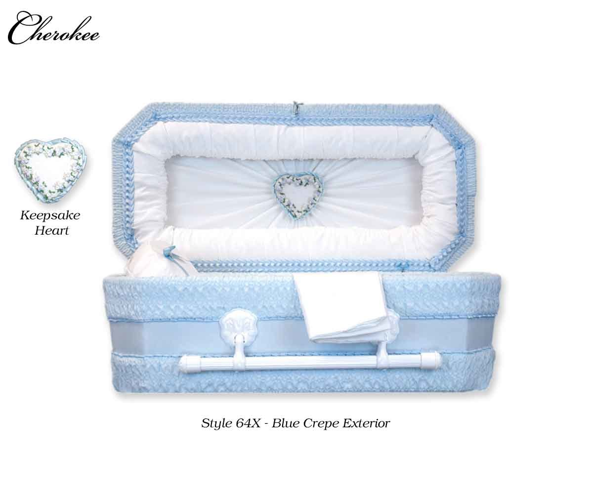 Cloth Covered Heart Keepsake Baby Casket (21 or  24 Inch Interior)     C-21-24-Cloth 737787000038