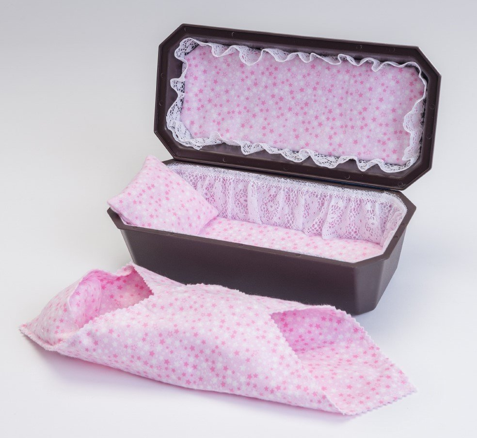 Baby Girl Cradle Casket with Pink Interior (up to 18 weeks)   C-9-2P 636225539492