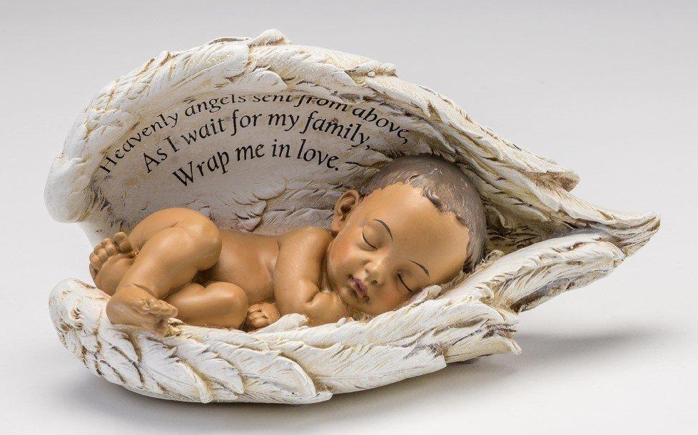 Baby in Wings Statue (medium skin tone)     M-BIW-Brn 636225539744