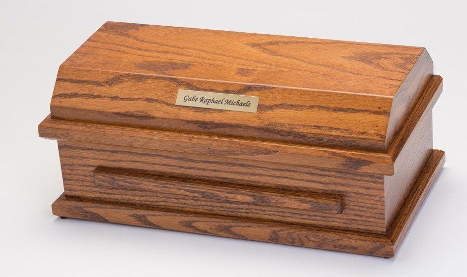 Oak Preemie Baby Casket (for baby up to 27 weeks)     C-15-Oak