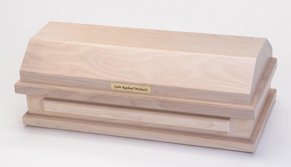 White Ash Baby Casket (20 inch length)     C-20-WA 636225539546