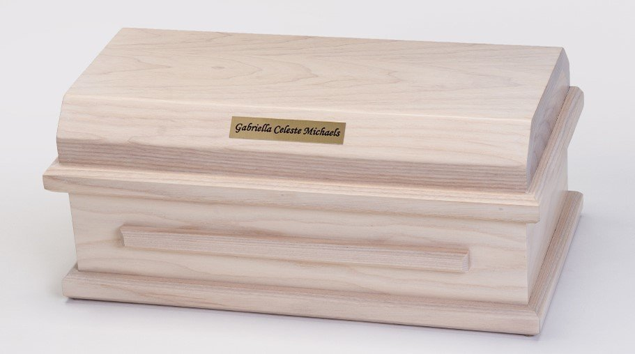 White Ash Preemie Baby Casket (for baby up to 32 weeks)     C-15-WA 636225539584