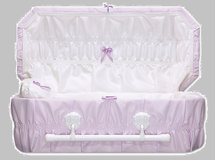 Cloth Covered Baby Casket (24 Inch Interior)     C--24-Cloth 636225539874