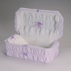 Cloth covered Preemie Casket (16 -21 inch interior)     C-16-21-Cloth