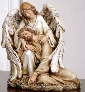 Angel Comforting Jesus Statue M-ACJS 636225540085