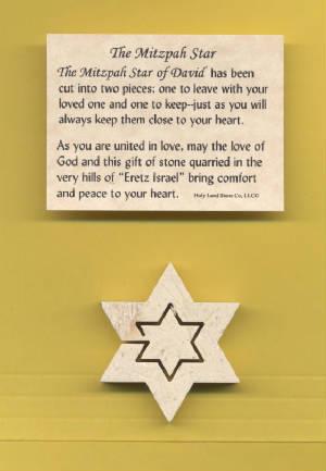Star of David from Jerusalem Stone     M-SoD 636225540115