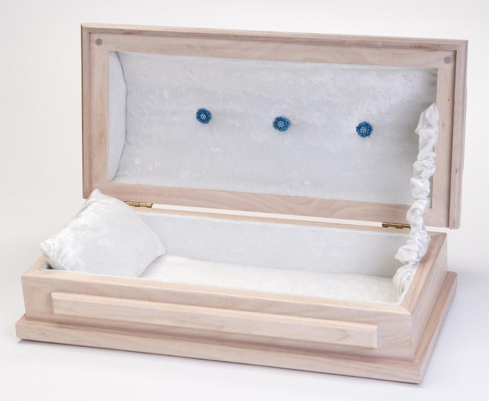 White Ash Baby Casket (20 inch length)     C-20-WA