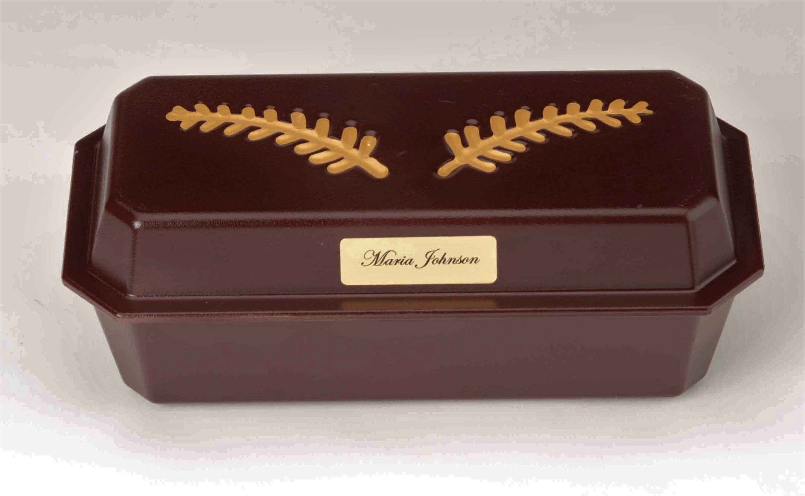 Plastic Casket/Vault Combo with Gold Satin Interior (up to 13 weeks)     C-9-1G