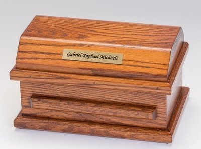 Oak Miscarriage Casket (up to 19 weeks)     C-9-Oak