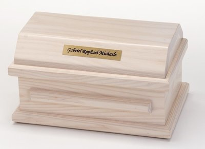 White Ash Miscarriage Casket (up to 19 weeks)     C-9-WA