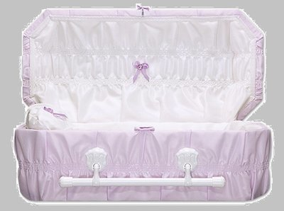 Cloth Covered Baby Casket (21 -24 Inch Interior)     C-21-24-Cloth