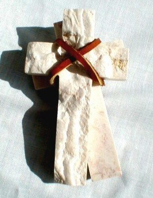 Comfort Cross from Jerusalem Stone     M-C-Cross