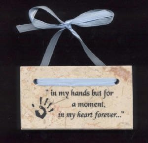 In My Heart Forever Plaque (handprint)     M-IMH-Hand