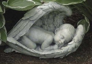 Large Baby In Wings Memorial