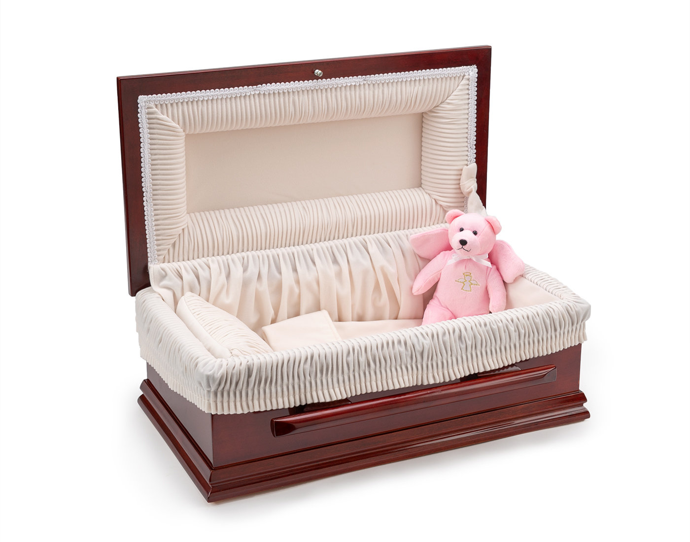 19 Inch Classic Wood Baby Casket with Slide Lock     C-19-SO