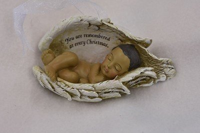Christmas Ornament (dark skin tone) ORN-BIW-BK