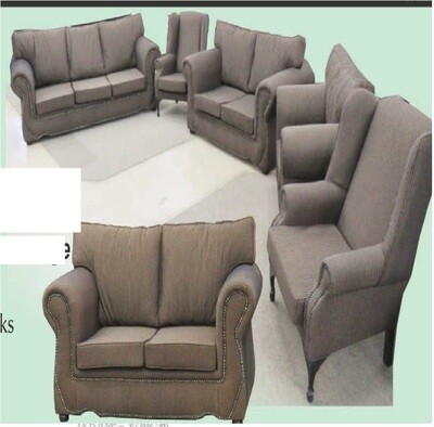 5 Piece Dianna Designer lounge suite with 2  WINGBACKS with Trade-Inn