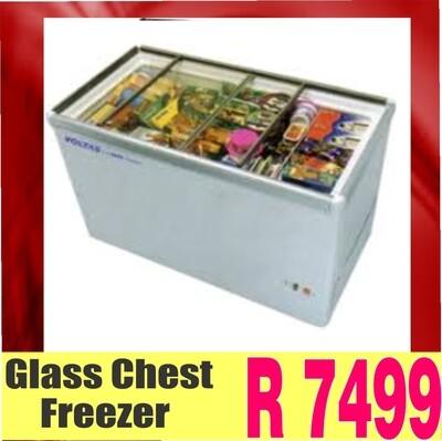 GLASS TOP  chest freezer