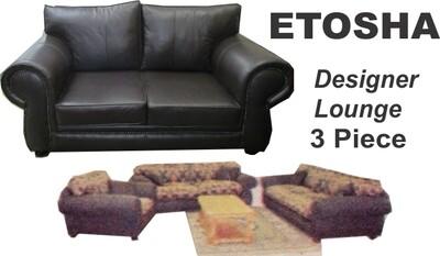 ETOSHA 3 PIECE DESIGNER LOUNGE SUITE