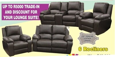 6 RECLINER MOTION 6 SEATER