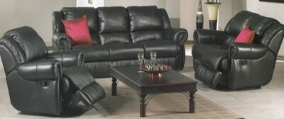 5 RECLINERS GENUINE LEATHER COMBO