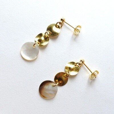 Elegant shell earrings — smart casual, style, accessories