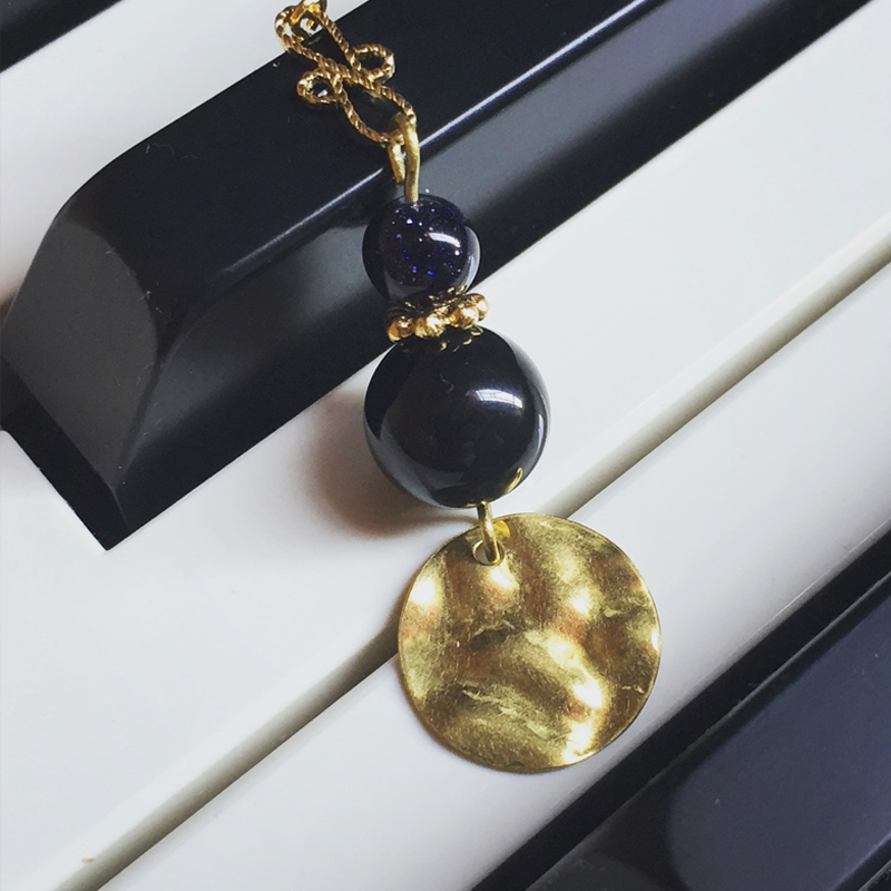 Shiny night- gold tone finishing, 925 silver, hook earrings, Free shipping